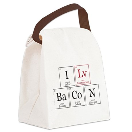 I Lv BaCoN [I Love Bacon] Canvas Lunch Bag