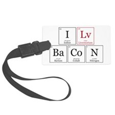 I Lv BaCoN [I Love Bacon] Luggage Tag