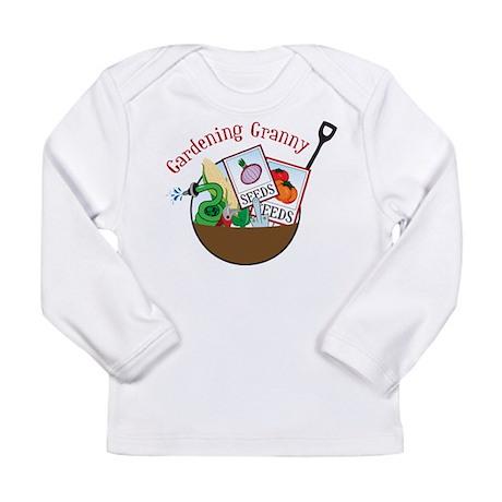 Gardening Granny Long Sleeve Infant T-Shirt
