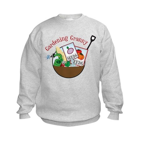 Gardening Granny Kids Sweatshirt