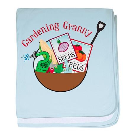 Gardening Granny baby blanket
