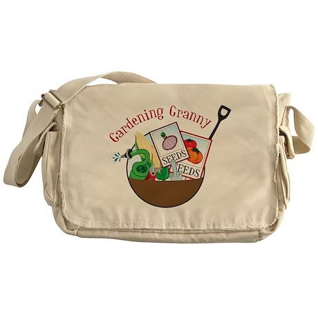 Gardening Granny Messenger Bag