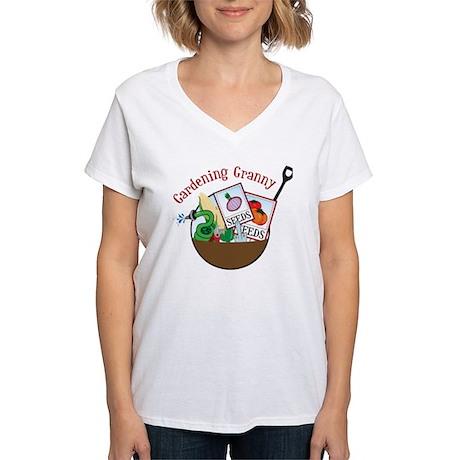 Gardening Granny Women's V-Neck T-Shirt