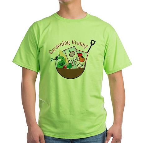 Gardening Granny Green T-Shirt