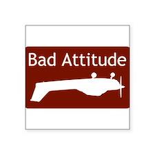 Bad Attitude Rectangle Sticker