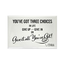 2x3 Magnet Transparent - Youve got three choices i