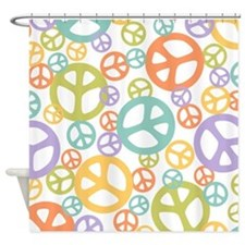 Multi Peace Shower Curtain