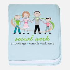 Social Work baby blanket