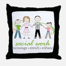 Social Work Throw Pillow