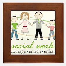 Social Work Framed Tile