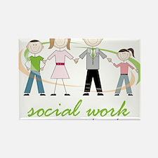 Social Work Rectangle Magnet