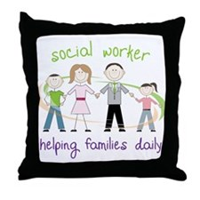 Helping Families Daily Throw Pillow