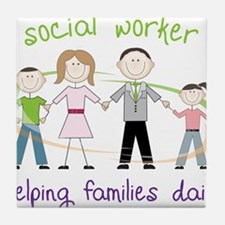 Helping Families Daily Tile Coaster