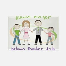 Helping Families Daily Rectangle Magnet