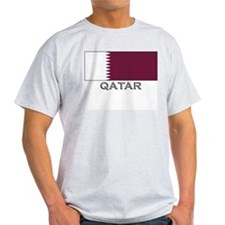 Qatar Flag Stuff Ash Grey T-Shirt