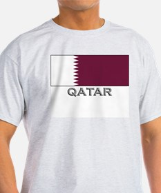 Qatar Flag Stuff Ash Grey T-Shirt