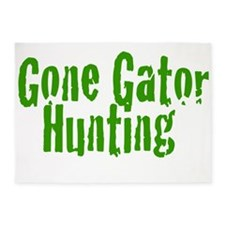 Gone Gator Hunting 5'x7'Area Rug