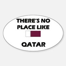 There Is No Place Like Qatar Oval Decal