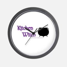 Kitchen Witch Wall Clock