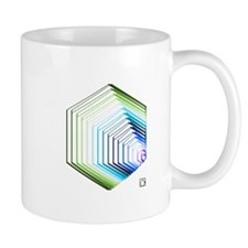 tessellated hexagons mug