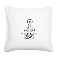 Ground Attack! Square Canvas Pillow