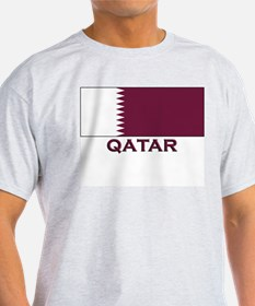 Qatar Flag Merchandise Ash Grey T-Shirt