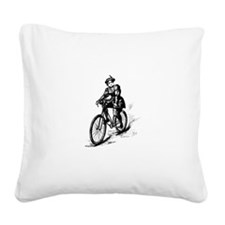 Girl Cycler Square Canvas Pillow