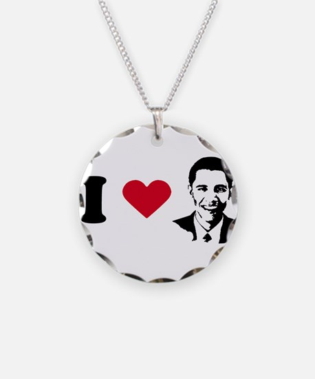 Cute Barack n roll Necklace Circle Charm