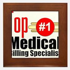 Top Medical Billing Specialist.png Framed Tile