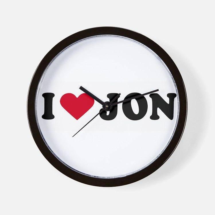 Cute I love johnathon Wall Clock