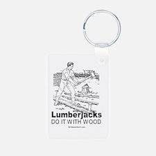 Cute Lumberjack valentine Keychains