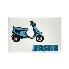 Scooter Sasha Rectangle Magnet