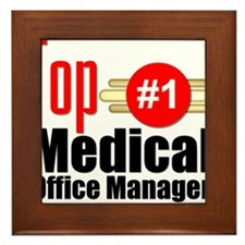 Top Medical Office Manager Framed Tile