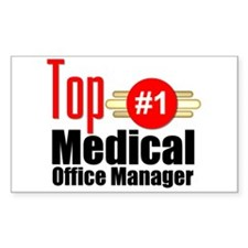 Top Medical Office Manager Decal