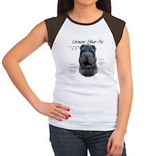 Blue Chinese Shar-Pei Women's Cap Sleeve T-Shirt