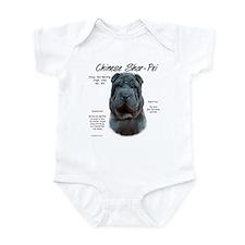 Blue Chinese Shar-Pei Infant Bodysuit