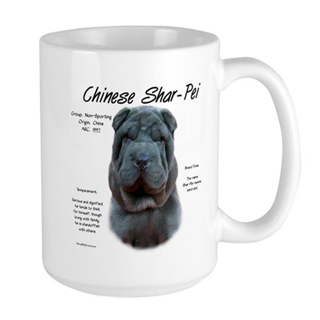 Blue Chinese Shar-Pei Large Mug