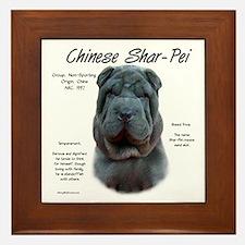 Blue Chinese Shar-Pei Framed Tile
