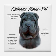 Blue Chinese Shar-Pei Tile Coaster