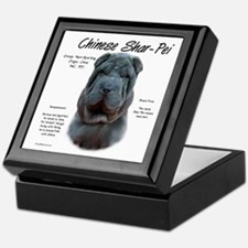 Blue Chinese Shar-Pei Keepsake Box
