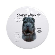 Blue Chinese Shar-Pei Ornament (Round)