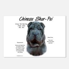 Blue Chinese Shar-Pei Postcards (Package of 8)