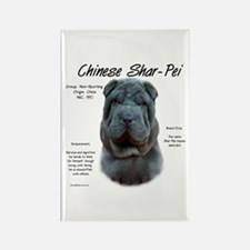Blue Chinese Shar-Pei Rectangle Magnet
