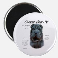 Blue Chinese Shar-Pei Magnet