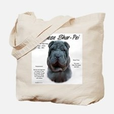 Blue Chinese Shar-Pei Tote Bag