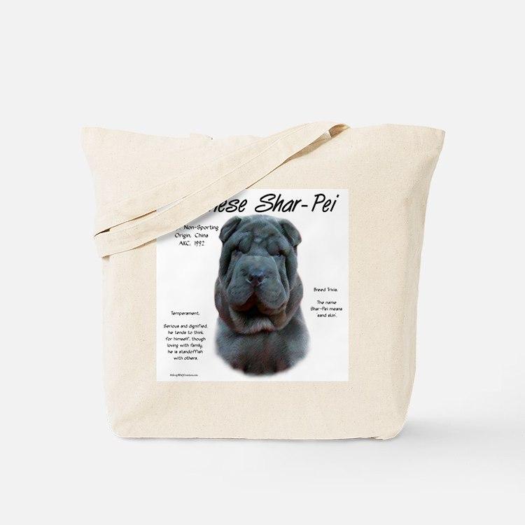 Blue Chinese Shar-Pei Tote Bag