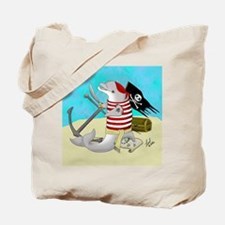 Pirate Dolphin Tote Bag