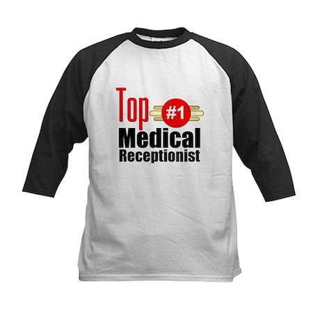 Top Medical Receptionist Kids Baseball Jersey
