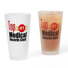 Top Medical Records Clerk Drinking Glass