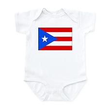 Puerto Rico Flag Picture Infant Bodysuit